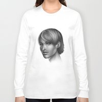 no face Long Sleeve T-shirts featuring Face by clayscence