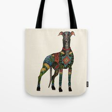 greyhound ivory Tote Bag
