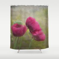 poppies Shower Curtains featuring Poppies by Pauline Fowler ( Polly470 )