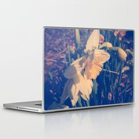 rileigh smirl Laptop & iPad Skins featuring Daffodil by Rileigh Smirl