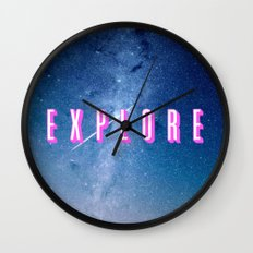 Explore - Space Typography Wall Clock