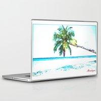 cuba Laptop & iPad Skins featuring Cuba , Playa  ( Cuba , beach ) by arnedayan