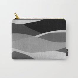 Gray and Pewter Waves Carry-All Pouch