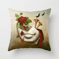 broken Throw Pillows featuring Broken by Diogo Verissimo