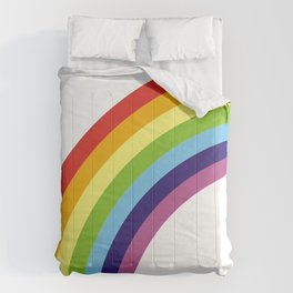 happy rainbow Comforters