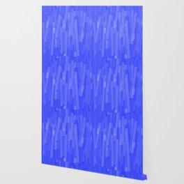 Geometric Blue White Painting Wallpaper