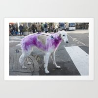 Some dogs are Pink. Deal with it. Art Print