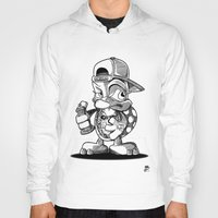 sea turtle Hoodies featuring turtle by ouchgrafix urban art