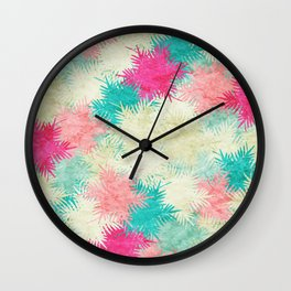 Tropical Fan Palm Paradise – Colorful Wall Clock