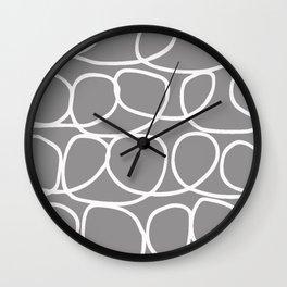 Loop Di Doo Gray & White Wall Clock
