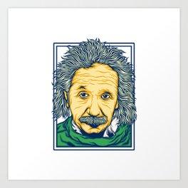 Illustration of the biggest physicist genius Albert Einstein. Art Print