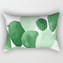 Green Paddle Cactus II Rectangular Pillow