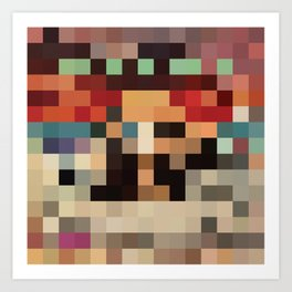 Pixel Paak Art Print