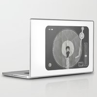 afro Laptop & iPad Skins featuring afro deck by Vin Zzep