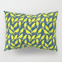 Canaries in Blue and Yellow Pillow Sham