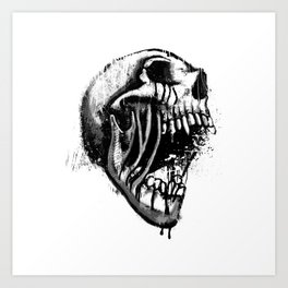 Melting Primal Scream - Skull Art Print