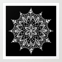 Cosmos Doily Art Print