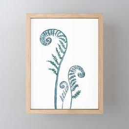 fern painting 2017 Framed Mini Art Print