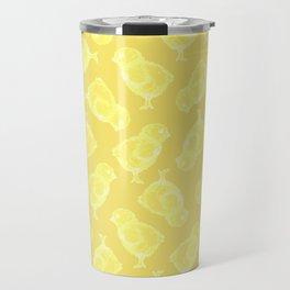 Yellow Easter chicken pattern Travel Mug