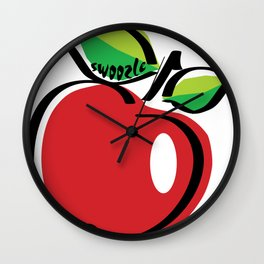 Apple Swoozle Wall Clock