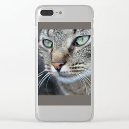 Thoughtful Cat Clear iPhone Case