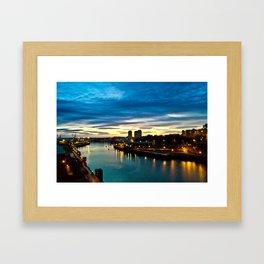 sunderland sunrise Framed Art Print