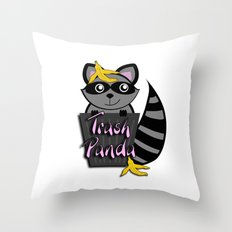 Trash Panda Throw Pillow