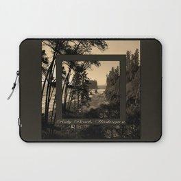 ruby beach, wa, usa old school (2x square) Laptop Sleeve