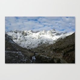 High mountain scenery near Cima Presanella, Italy Canvas Print