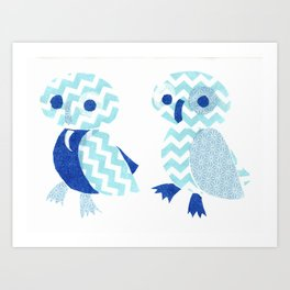 Two Owls  Art Print