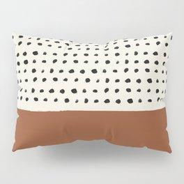 Burnt Orange x Dots Pillow Sham