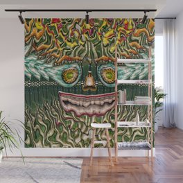 Melting Glass Face Wall Mural