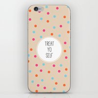 treat yo self iPhone & iPod Skins featuring Treat Yo Self II by Galaxy Eyes