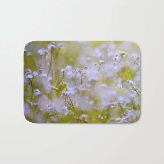 Forget-me-nots On a Windy Day Bath Mat