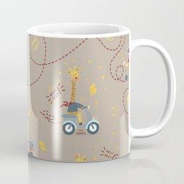 cool giraffe beige background Coffee Mug