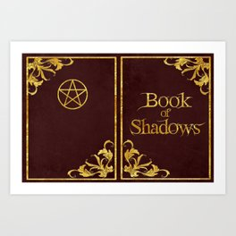 Red Book of Shadows v2 Art Print
