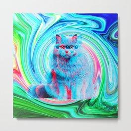 Confusion Cat Metal Print