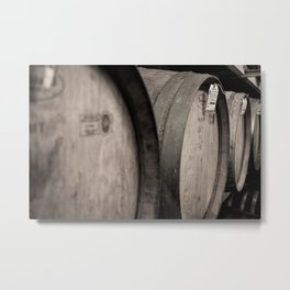 Wine Barrels Metal Print