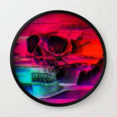 Mortality Glitch Wall Clock