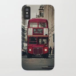 Vintage London Bus iPhone Case