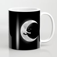 hug Mugs featuring Moon Hug by carbine