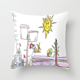 Squirrel Country Club Throw Pillow