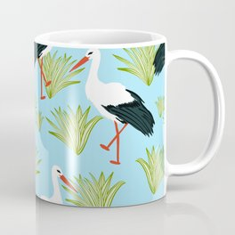 Storks #illustration #pattern #wildlife Coffee Mug