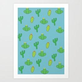 Cacti Pattern  Art Print