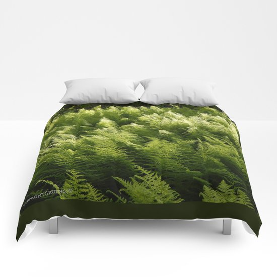 Light Magic in the Green Ferns Comforters