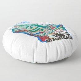 Wisconsin Country Sampler Floor Pillow
