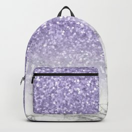 Unicorn Purple Glitter Marble Backpack