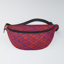 Red Purple Scales Fanny Pack