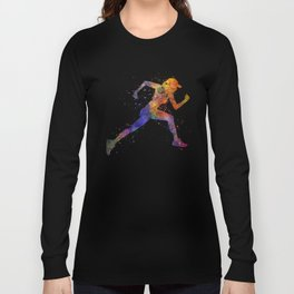 Woman runner jogger running Long Sleeve T-shirt