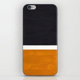 Black Yellow Ochre Rothko Minimalist Mid Century Abstract Color Field Squares iPhone Skin